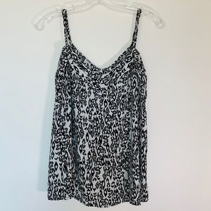 DYNAMITE l Black and White Pattern Camisole